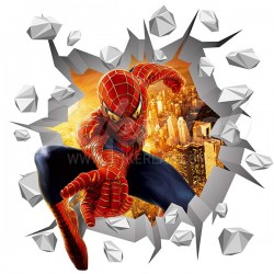 3D Spiderman 2 stiker