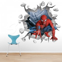 3D Spiderman stiker