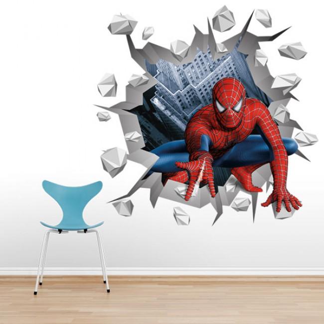 3D Spiderman stiker