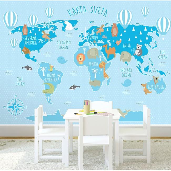 Foto tapete Mapa sveta 29