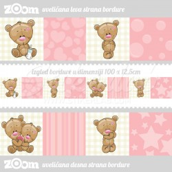 Bordure za zid Love Bear