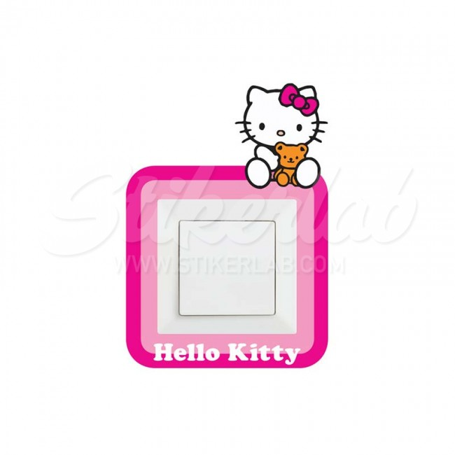 Hello Kitty stiker oko prekidaca
