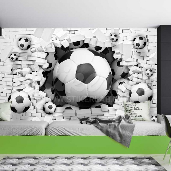 Foto Tapete 3D Football explosion