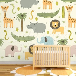 Tapet Baby Jungle