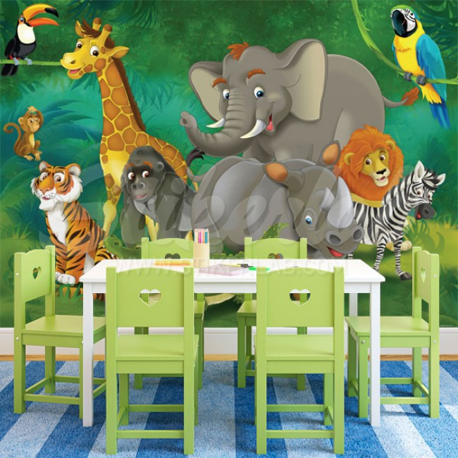 Foto tapete Jungle Friends